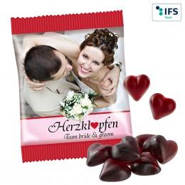 Cassis Fruchtsaft-Herzen