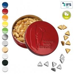 XS-Prägedose mit Pfefferminzgold- oder Silbernuggets