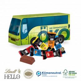 3D Präsent Bus Lindt Hello Mini Stick Klimaneutral, FSC®