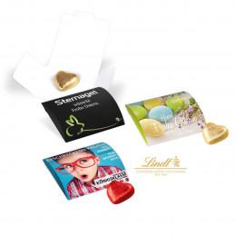 Werbebriefchen mit Lindt Schokoladenherz