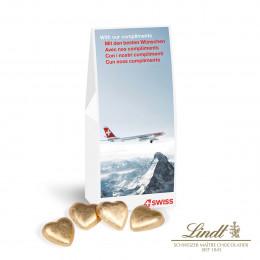 Businesspräsent Selection Lindt Schokoladenherzen