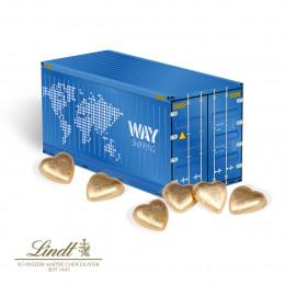 3D Präsent Container Lindt Schokoladenherzen