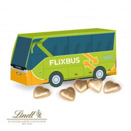 3D Präsent Bus Lindt Schokoladenherzen