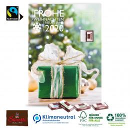 Wand-Adventskalender mit Fairtrade®-Schokolade, Klimaneutral, FSC®-zertifiziert