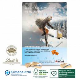 Wand-Adventskalender Lindt Select Edition, Klimaneutral, FSC®-zertifiziert