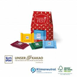 Präsent Christmas Minis Ritter Sport, Klimaneutral, FSC®-zertifiziert