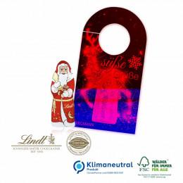 Türhänger Business mit Lindt Weihnachtsmann, Klimaneutral, FSC®-zertifiziert