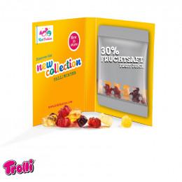 Werbekarte Midi Fruchtgummi Minitüte