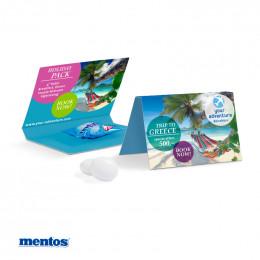 Werbekarte Visitenkartenformat Mentos Kaudragee 1er Mint