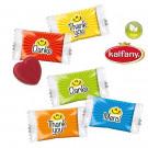 Herz-Bonbons im Danke-Standardflowpack
