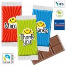 Maxi-Schokoladen-Täfelchen im Danke-Standardflowpack