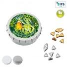 Super-Mini-Drück-mich-Dose mit Pfefferminzgold- oder Silbernuggets