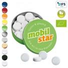 XS-Taschendose mit Bio-Pfefferminzpastillen
