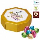 8-Eck-Geschenkbox mit Schoko-Ostereiern