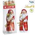 Lindt & Sprüngli Weihnachtsmann mit Werbekärtchen