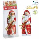 Lindt Weihnachtsmann Blister mit Werbekärtchen
