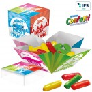 Mini Überraschungs-Box mit Mini Hitschies Kaubonbons Mix