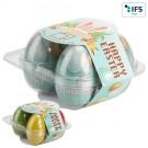 4er Eier-Box mit Werbebanderole
