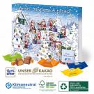 Karton-Adventskalender mit Ritter SPORT Schokowürfel, Klimaneutral, FSC®, Innen- und Außenteil zu 100% aus Karton