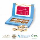 Präsentbox Business mit Schokotäfelchen Lindt, mit Kartenhalterung, Klimaneutral, FSC®