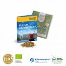 Werbekärtchen Fair-Plus Bio-Tee