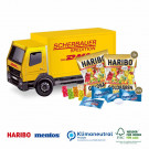 3D Präsent LKW Haribo Goldbären+Mentos Mint Klimaneutral, FSC®