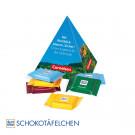 Werbe-Pyramide mit Ritter Sport Schokoladentäfelchen