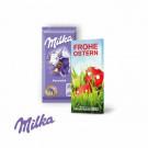 Schokoladentafel von Milka, 40 g, Klimaneutral, FSC®