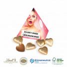 Werbe-Pyramide Lindt Schokoladenherzen Klimaneutral, FSC®