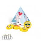 Werbe-Pyramide mit Lindt Hello Mini Emoti