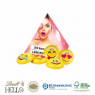 Werbe-Pyramide Lindt Hello Mini Emoti Klimaneutral, FSC®