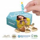 Jubiläums- & Geburtstags-Box Lindt Herzen, Klimaneutral, FSC®