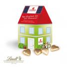 3D Präsent Haus Lindt Schokoladenherzen
