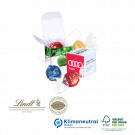 Werbe-Würfel mit Lindor Praliné, Klimaneutral, FSC®-zertifiziert