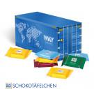 3D Präsent Container Ritter Sport Schokotäfelchen