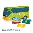 3D Präsent Bus Ritter Sport Schokotäfelchen