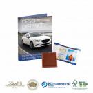 Werbe-Klappkarte mit süßer Füllung Lindt Schokoladentäfelchen Klimaneutral, FSC®