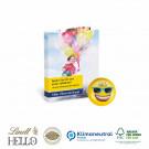 Werbe-Klappkarte mit süßer Füllung Lindt Hello Mini Emoti Klimaneutral, FSC®