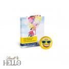 Werbe-Klappkarte mit Lindt Hello Mini Emoti