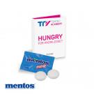 Werbe-Klappkarte mit süßer Füllung Mentos