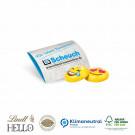 Werbebriefchen mit Lindt Hello Mini Emoti