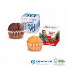 Muffin Mini im Werbewürfel, Klimaneutral, FSC®