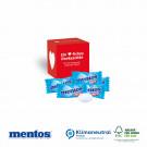 Werbewürfel mit süßer Füllung Mentos