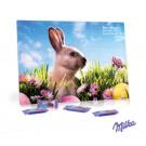 Tisch-Osterkalender mit Schokolade von Milka