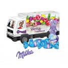 """3D Präsent """"LKW"""" mit Schokoladenmischung von Milka"""