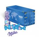 """3D Präsent """"Container"""" mit Schokoladenmischung von Milka"""