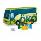 "3D Präsent ""Bus"" mit Ritter Sport Schokotäfelchen"
