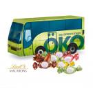 """3D Präsent """"Bus"""" mit Lindt Macarons Mischung"""