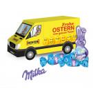 """3D Präsent """"Transporter"""" mit Schokoladenmischung von Milka"""