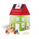 """3D Präsent """"Haus"""" mit Schokoladenmischung von Lindt"""